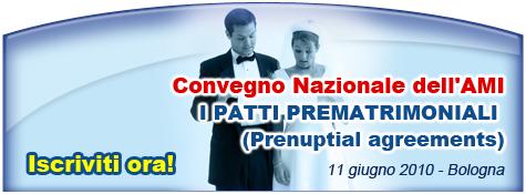 Convegno Nazionale dell'AMI - I patti prematrimoniali