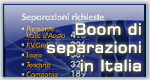 Boom di separazioni in Italia