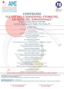 LE VIE DELL'ADOZIONE: STORICHE, GIURIDICHE, EMOZIONALI @ Sala Marco Biagi - Bologna | Bologna | Emilia-Romagna | Italia