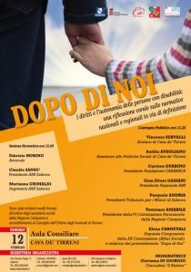DOPO DI NOI: i diritti e l'autonomia delle persone con disabilità: una riflessione corale sulle normative nazionali e regionali in via di definizione @ Comune di Cava dè Tirreni, Aula consiliare | Cava de' Tirreni | Campania | Italia