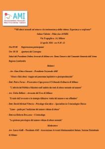 Gli abusi sessuali sul minore e la testimonianza della vittima. Esperienze a confronto @ Salone Valente – Palazzina ANMIG - Milano | Milano | Lombardia | Italia