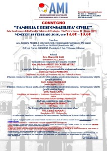 FAMIGLIA E RESPONSABILITA' CIVILE @ Roma - Sala Conferenze della Facoltà Valdese di Teologia | Roma | Lazio | Italia