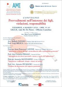Provvedimenti nell'interesse dei figli, violazioni, responsabilità @ Cantine Cantelmo | Lecce | Puglia | Italia