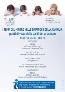I tempi del minore nelle dinamiche della famiglia: punti di vista delle parti del processo. @ La Spezia - Sala Marmori | La Spezia | Liguria | Italia