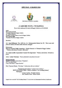 L'AMORE NON E' VIOLENZA @ Presso Sala conferenze Provincia di Reggio Calabria  | Reggio Calabria | Calabria | Italia