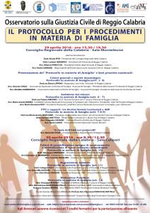 Il Protocollo per i procedimenti in materia di famiglia @ Reggio Calabria, Tribunale | Reggio Calabria | Calabria | Italia