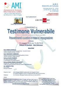 Testimone vulnerabile. Provvedimenti cautelari e mezzi di impugnazione @ Sala Audunanze - Palazzo di giustizia di Catania | Catania | Sicilia | Italia