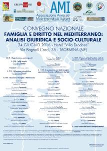 CONVEGNO NAZIONALE - FAMIGLIA E DIRITTO NEL MEDITERRANEO: ANALISI GIURIDICA E SOCIO-CULTURALE @ Taormina - Hotel Villa Diodoro   Taormina   Sicilia   Italia
