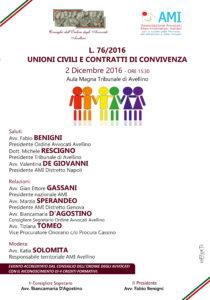 L. 76/2016 UNIONI CIVILI E CONTRATTI DI CONVIVENZA @ Aula Magna - Tribunale di Avellino | Avellino | Campania | Italia