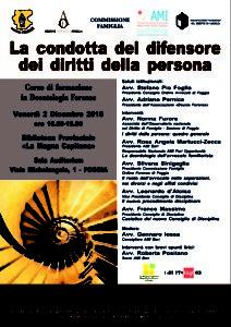La condotta del difensore dei diritti delle persona @ Biblioteca Provinciale - La Magna Capitana | Foggia | Puglia | Italia