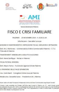 FISCO E CRISI FAMILIARE @ Villa Niscemi – Sala delle Carrozze | Palermo | Sicilia | Italia
