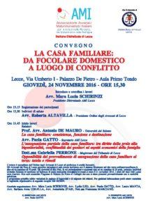 La casa familiare: da focolare domestico a luogo di conflitto @ Palazzo De Pietro - Aula Primo Tondo | Lecce | Puglia | Italia