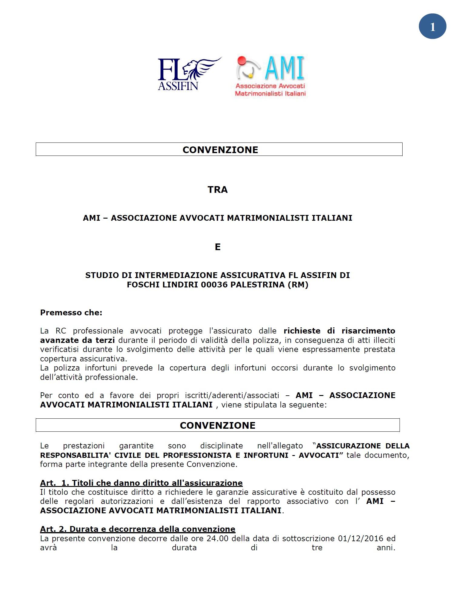 convenzione assicurazione professionale | associazione