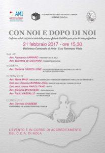 CON NOI E DOPO DI NOI @ Nola - biblioteca comunale | Nola | Campania | Italia