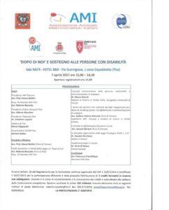 DOPO DI NOI E SOSTEGNO ALLE PERSONE CON DISABILITA' @ Sala NAI'R HOTEL B E B | Pisa | Toscana | Italia