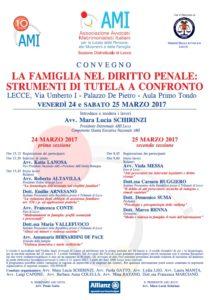 La famiglia nel diritto penale: strumenti di tutela a confronto @ Aula Primo Tondo - Palazzo De Pietro | Lecce | Puglia | Italia