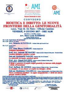 BIOETICA E DIRITTO: LE NUOVE FRONTIERE DELLA GENITORIALITA' @ Officine Cantelmo | Lecce | Puglia | Italia