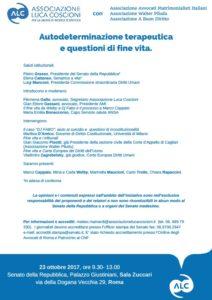 Autodeterminazione terapeutica e questioni di fine vita @ Senato della Repubblica, Palazzo Giustiniani, Sala Zuccari | Roma | Lazio | Italia