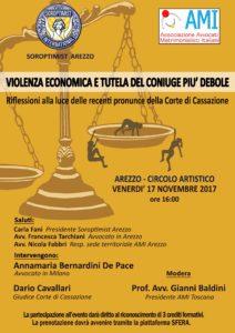 Violenza economica e tutela del coniuge debole @ Arezzo - Circolo artistico