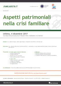 Aspetti patrimoniali nella crisi familiare @ Aula Udienze Penali primo piano presso il Tribunale di Urbino | Reggio Emilia | Emilia-Romagna | Italia