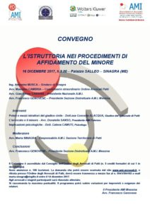 L'ISTRUTTORIA NEI PROCEDIMENTI DI AFFIDAMENTO DEL MINORE @ Palazzo SALLEO | Sinagra | Sicilia | Italia