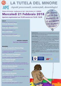 LA TUTELA DEL MINORE, ASPETTI PROCESSUALI, SOSTANZIALI E DEONTOLOGICI @ Auditorium A. Zoli, Tribunale di Firenze | Firenze | Toscana | Italia