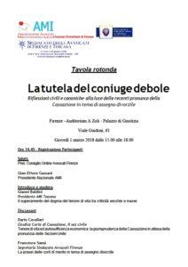 La tutela del coniuge debole @ Firenze –Auditorium A Zoli - Palazzo di Giustizia  | Firenze | Toscana | Italia