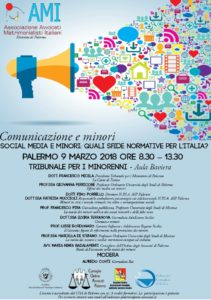 Comunicazione e minori, Social media e minori: quali sfide normative per l'Italia? @ Tribunale per i minorenni - AulaBaviera | Palermo | Sicilia | Italia