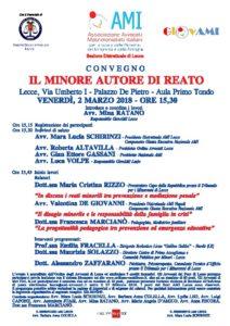 IL MINORE AUTORE DI REATO @ Aula Primo Tondo - Palazzo De Pietro | Lecce | Puglia | Italia