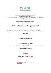 """""""Filtro all'appello civile e giurimetria"""" @ """"SALA DEGLI ANGELI"""" - CASA DEL GIOVANE - BERGAMO"""