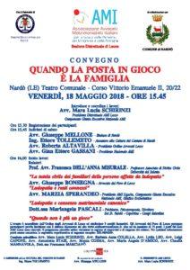 Quando la posta in gioco è la famiglia @ Teatro comunale Nardò | Nardò | Puglia | Italia