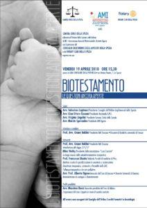 BIOTESTAMENTO E LE QUESTIONI ANCORA APERTE @ Sala Dante | La Spezia | Liguria | Italia
