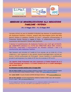 Seminari di sensibilizzazione alla Mediazione Familiare @ Potenza