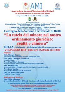 LA TUTELA DEL MINORE NEL NOSTRO ORDINAMENTO GIURIDICO: REALTA' O CHIMERA @ Biella - Sala Becchia | Biella | Piemonte | Italia