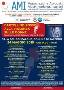 """""""Cartellino rosso alla violenza sulle donne. Prevenzione, sensibilizzazione e forme di tutela"""" @ Comune di Salerno - Sala del Gonfalone   Salerno   Campania   Italia"""