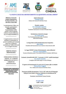 """""""La nuova legge sul biotestamento e le questioni ancora aperte"""" @ Biblioteca Comunale Porretta Terme (BO), Via Roma 22"""
