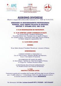 ASSEGNO DIVORZILE riflessioni a margine della sentenza della Cassazione S.U. n. 18287 del 10/04/2018 @ Aula Grippo Tribunale di Potenza | Potenza | Basilicata | Italia