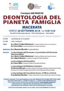 DEONTOLOGIA DEL PIANETA FAMIGLIA @ Macerata - Facoltà di Giurisprudenza | Macerata | Marche | Italia