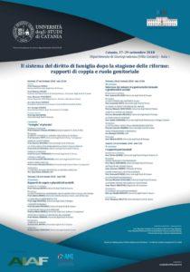 Il sistema del diritto di famiglia dopo la stagione delle riforme. Rapporti di coppia e ruolo genitoriale @ Dipartimento di Giurisprudenza (Aula 1) | Catania | Sicilia | Italia
