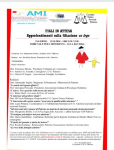 Figli in attesa. Approfondimenti sulla filiazione ex lege @ Aula Baviera Tribunale per i Minorenni di Palermo | Palermo | Sicilia | Italia