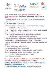 SEMINARIO TEMATICO: L'EVOLUZIONE DELLA PROFESSIONALITÀ DEL MEDIATORE FAMILIARE @ Consiglio Regionale, Sala A | Potenza | Basilicata | Italia
