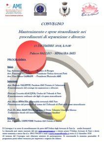 Mantenimento e spese straordinarie nei procedimenti di separazione e divorzio @ Palazzo SALLEO – SINAGRA | Sicilia | Italia