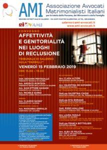 Affettività e genitorialità nei luoghi di reclusione @ Aula Parrilli - Tribunale di Salerno