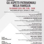GLI ASPETTI PATRIMONIALI NELLA FAMIGLIA @ Circolo Unificato dell'Esercito - Bologna