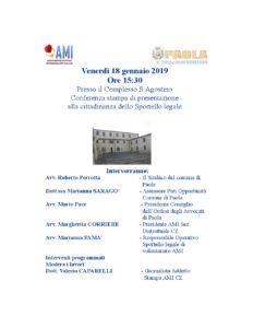 Presentazione Sportello AMI a Paola @ Paola, complesso Sant'Agostino