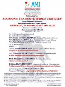 ADOZIONE: TRA NUOVE SFIDE E CRITICITA' @ Sala Open Space Palazzo Carafa - Lecce