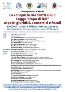"""""""La conquista dei diritti civili: Legge Dopo di Noi - aspetti giuridici, economici e fiscali"""" @ Sala ex consiliare del Comune di Ancona"""