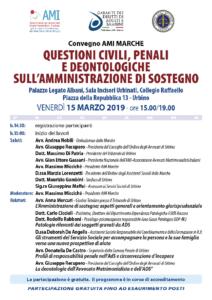 QUESTIONI CIVILI, PENALI E DEONTOLOGICHE SULL'AMMINISTRAZIONE DI SOSTEGNO @ Urbino, Sala Incisori Urbinati, Collegio Raffaello