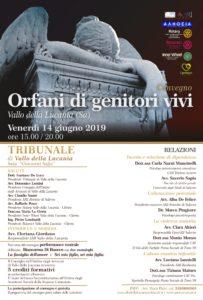 ORFANI DI GENITORI VIVI @ Tribunale di Vallo della Lucania, Aula Giovanni Sofia