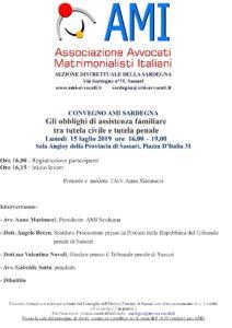 Gli obblighi di assistenza familiare tra tutela civile e tutela penale @ Sassari, Sala Angioy della Provincia di Sassari